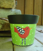 Red Bird Pot